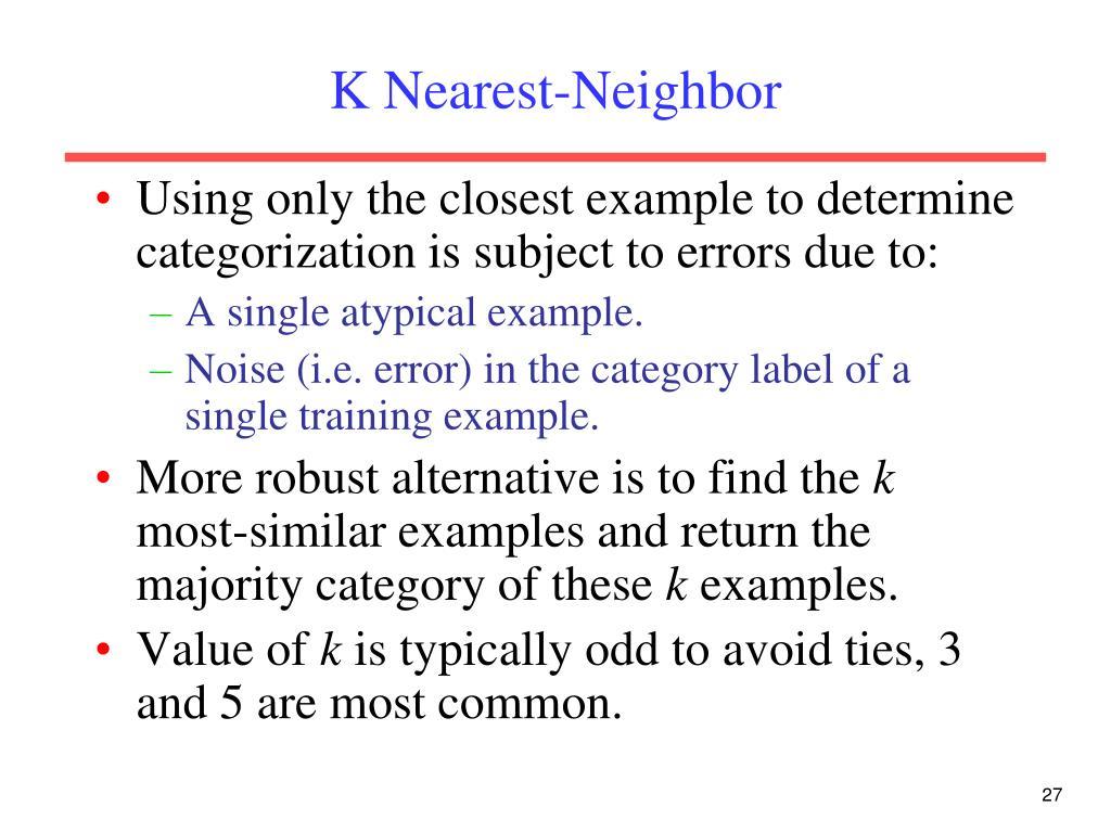 K Nearest-Neighbor