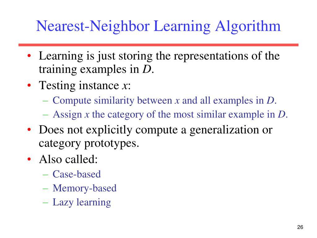 Nearest-Neighbor Learning Algorithm