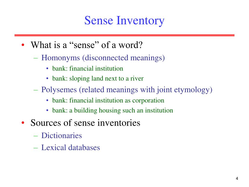 Sense Inventory