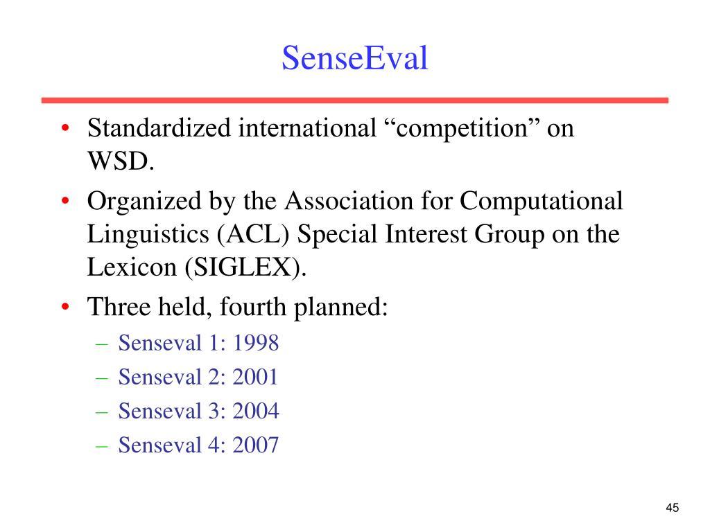 SenseEval
