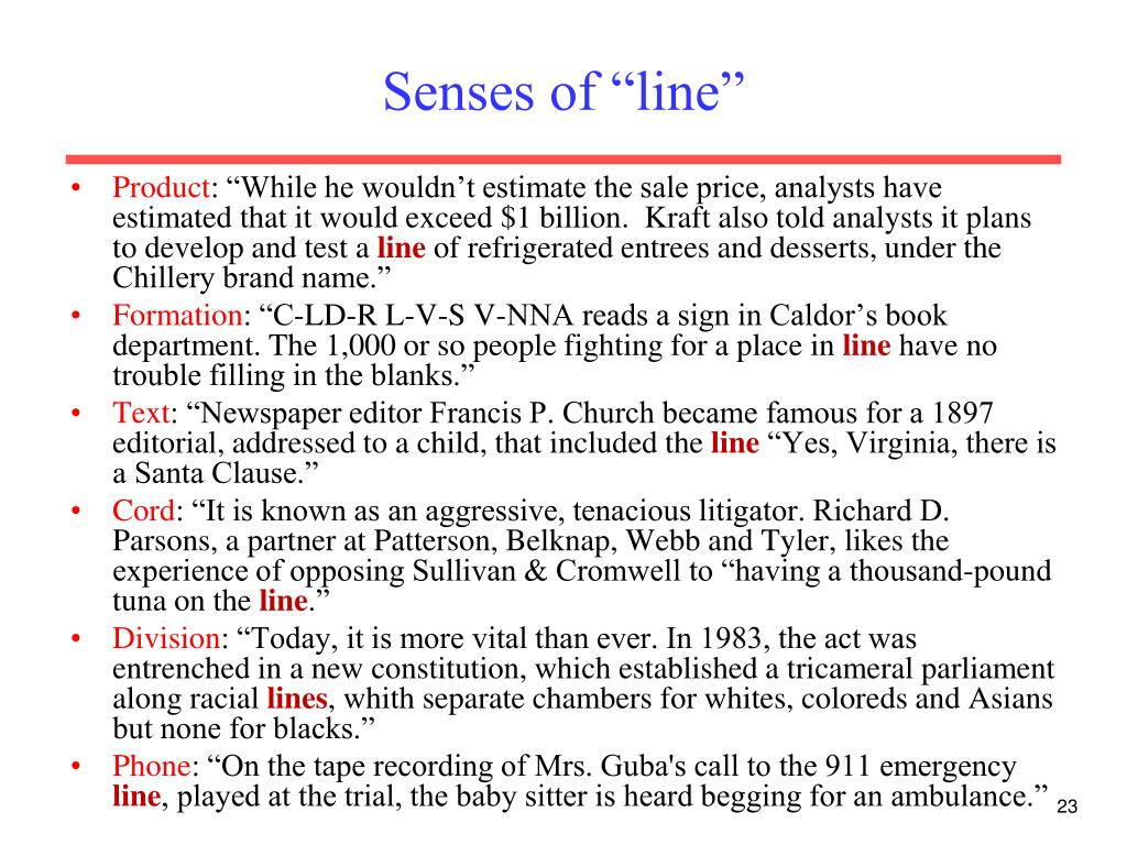 "Senses of ""line"""