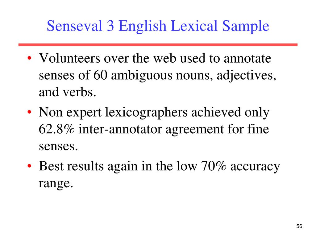 Senseval 3 English Lexical Sample