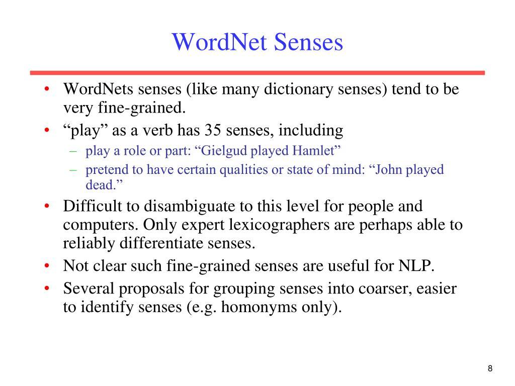 WordNet Senses