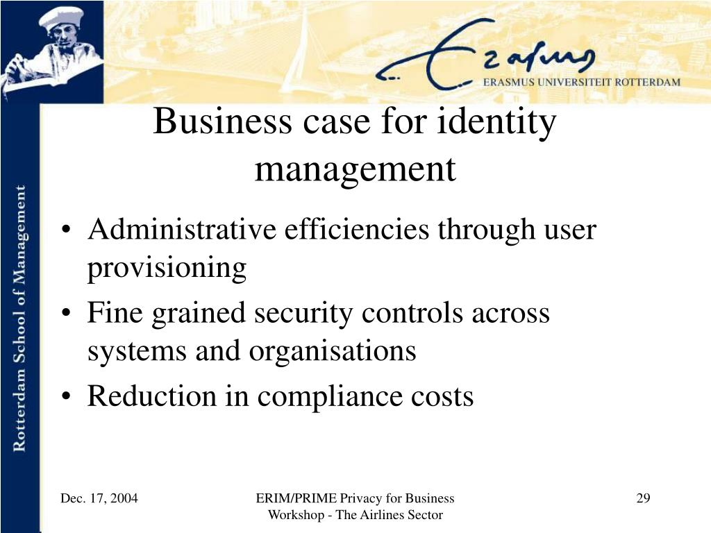 Business case for identity management