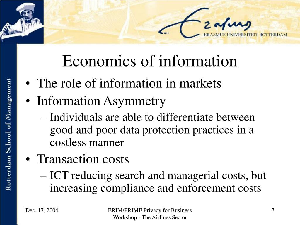 Economics of information