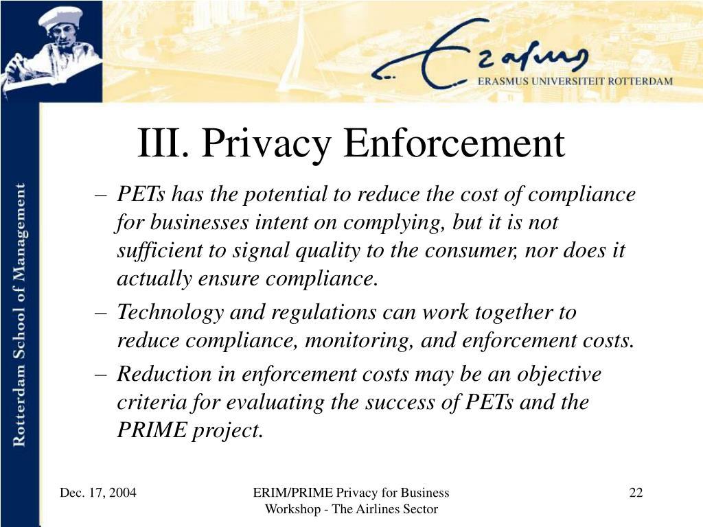 III. Privacy Enforcement