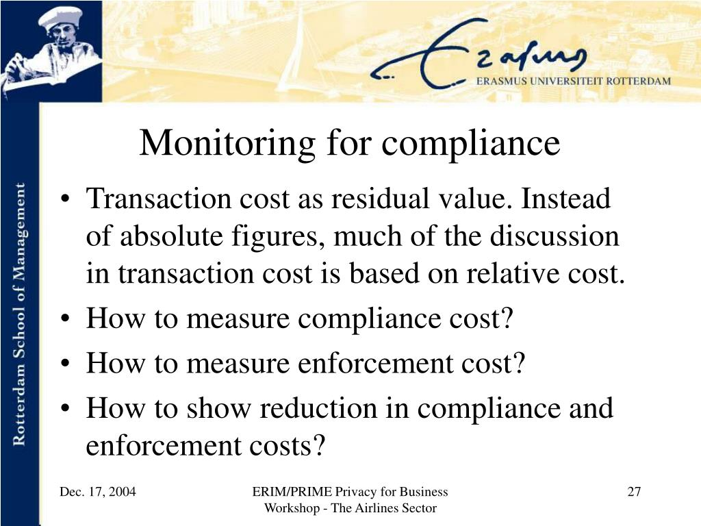 Monitoring for compliance