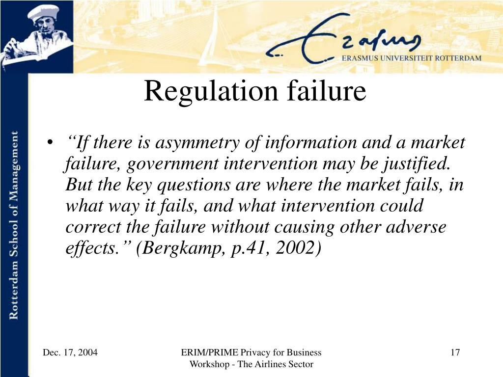 Regulation failure