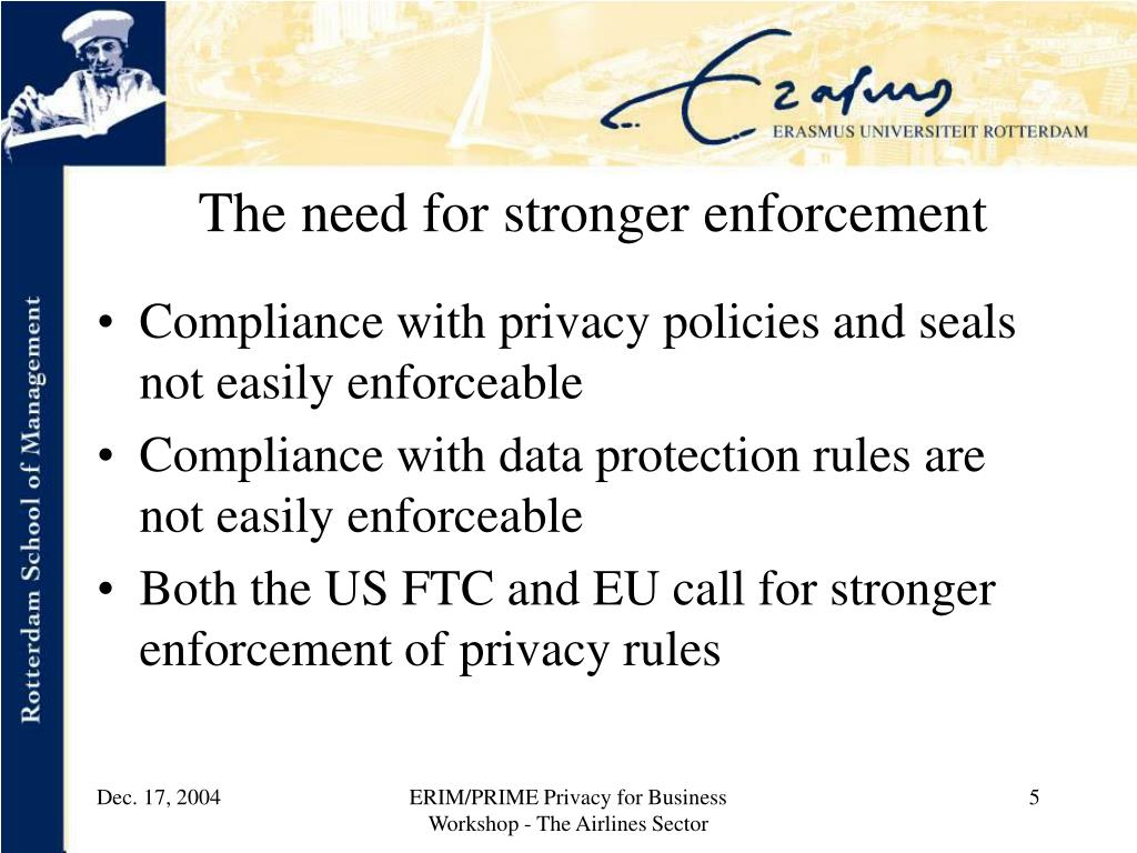 The need for stronger enforcement