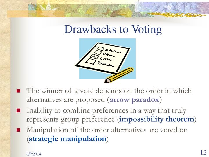 Drawbacks to Voting