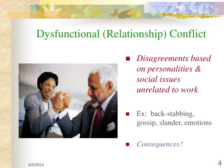 Dysfunctional (Relationship) Conflict