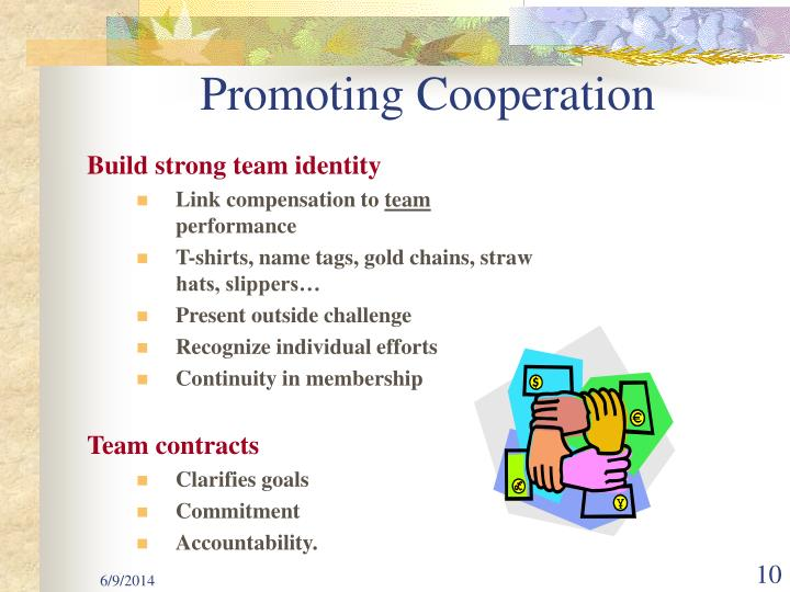 Promoting Cooperation