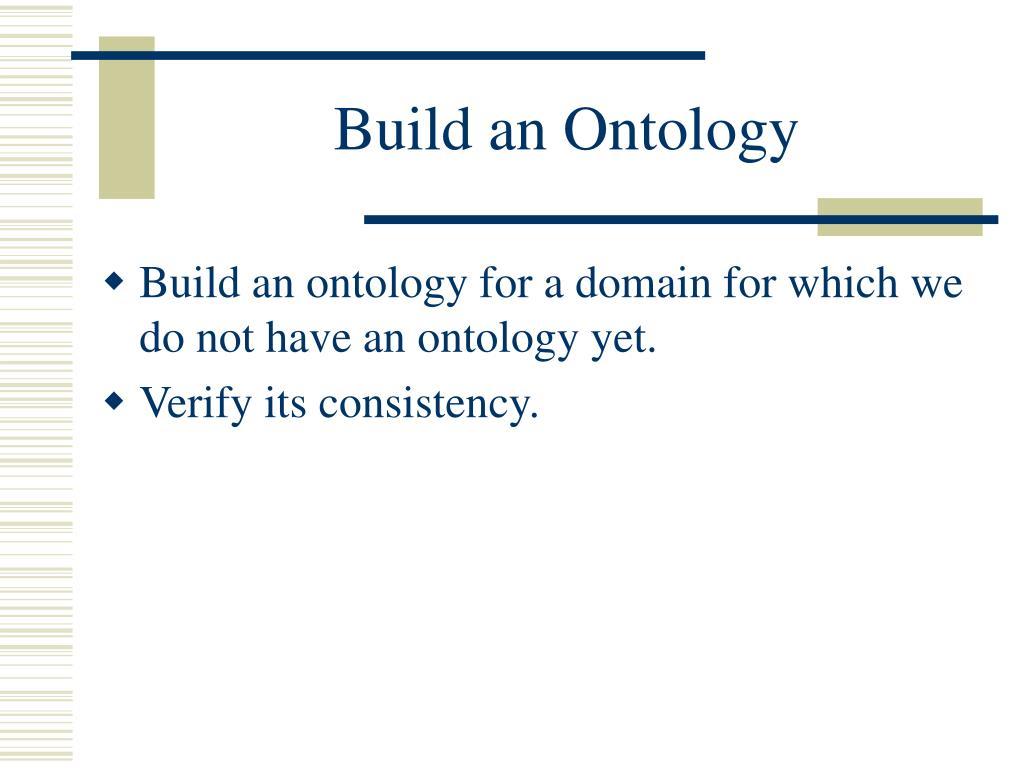 Build an Ontology