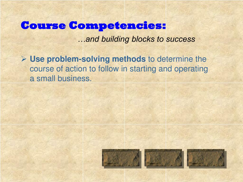 Course Competencies:
