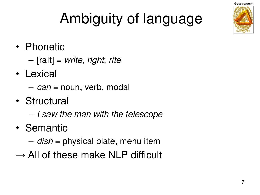 Ambiguity of language