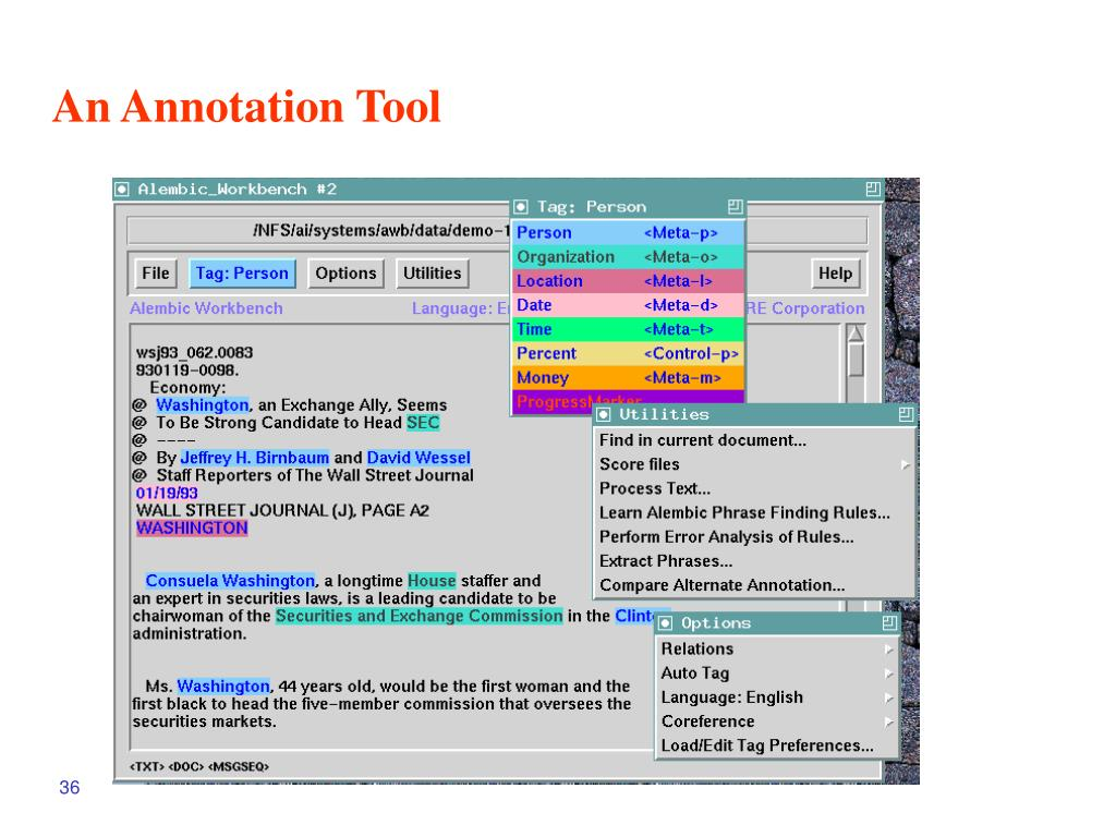 An Annotation Tool