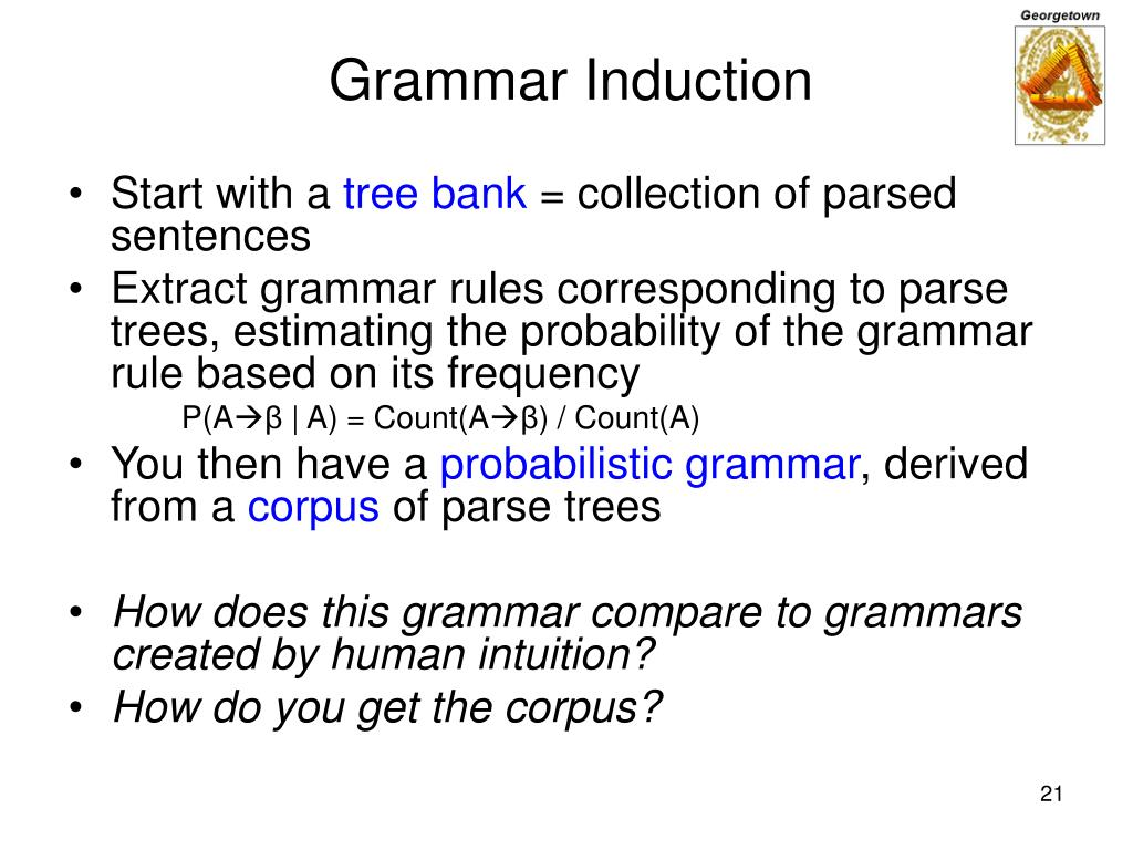 Grammar Induction