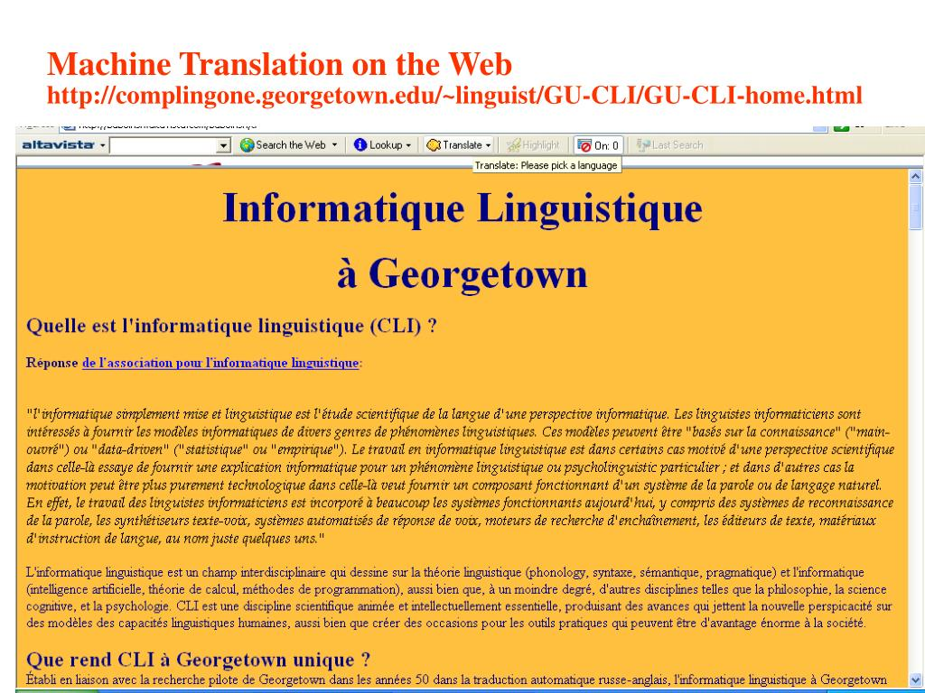 Machine Translation on the Web