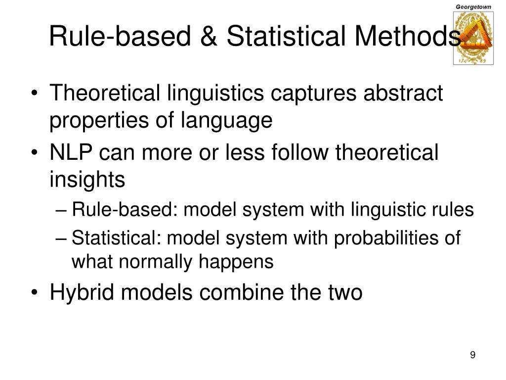 Rule-based & Statistical Methods