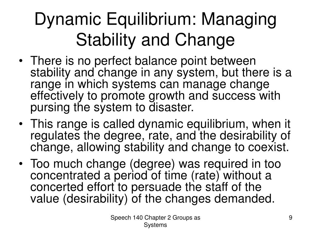 Dynamic Equilibrium: Managing Stability and Change