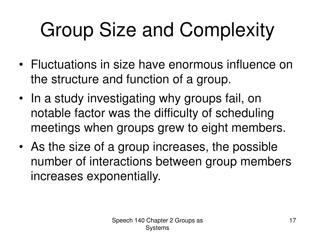 Group Size and Complexity