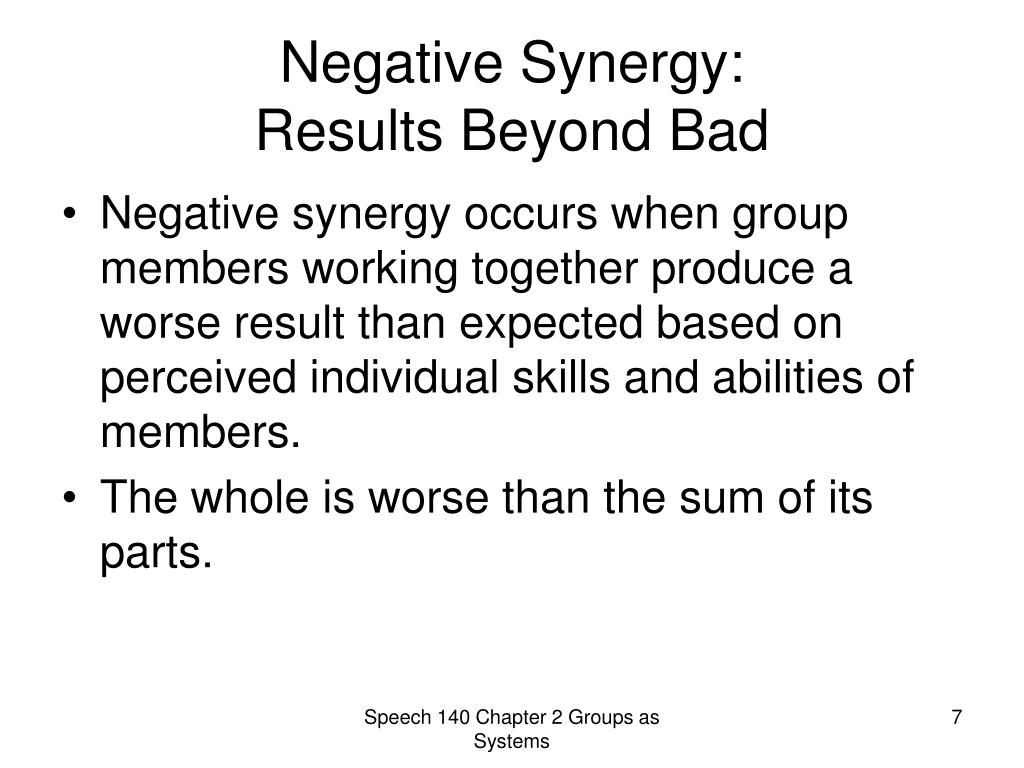 Negative Synergy: