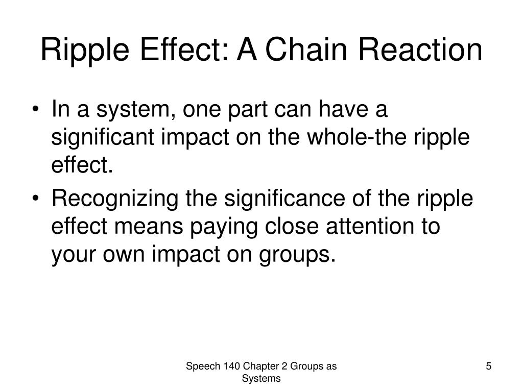 Ripple Effect: A Chain Reaction