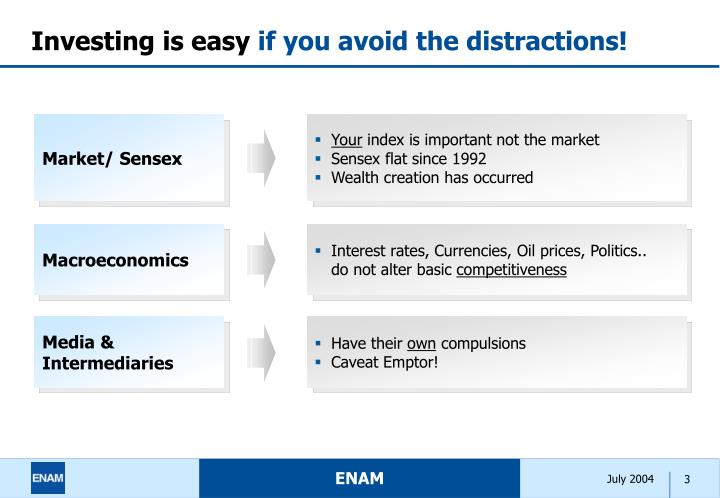 Investing is easy if you avoid the distractions