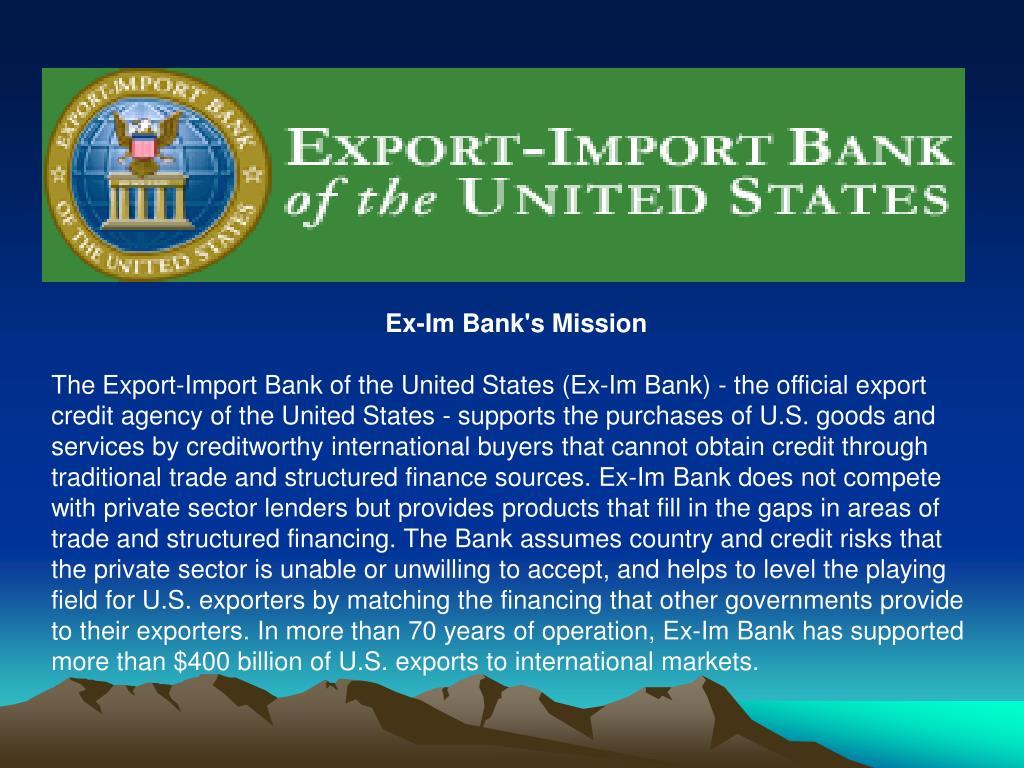 Ex-Im Bank's Mission