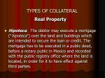 types of collateral