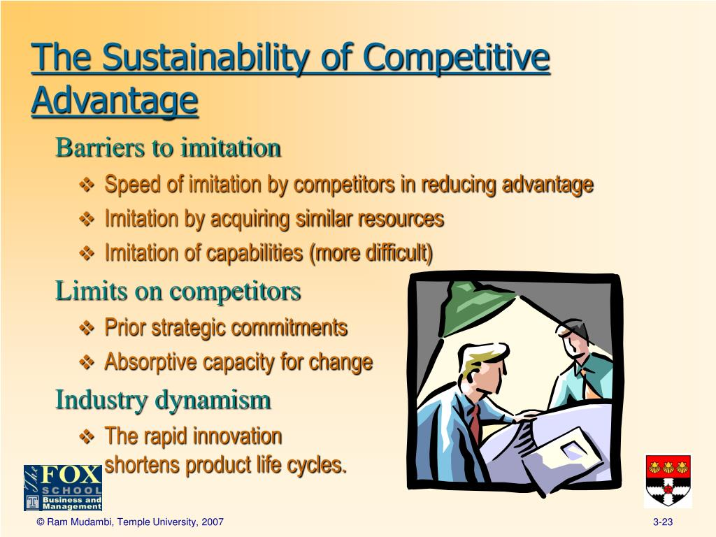 the sustainability of the competitive advantage Sustainability and competitive advantage fall 2009 vol 51 no 1 reprint number 51108 maurice berns, andrew townend, zayna khayat, balu balagopal, martin reeves, michael s hopkins.