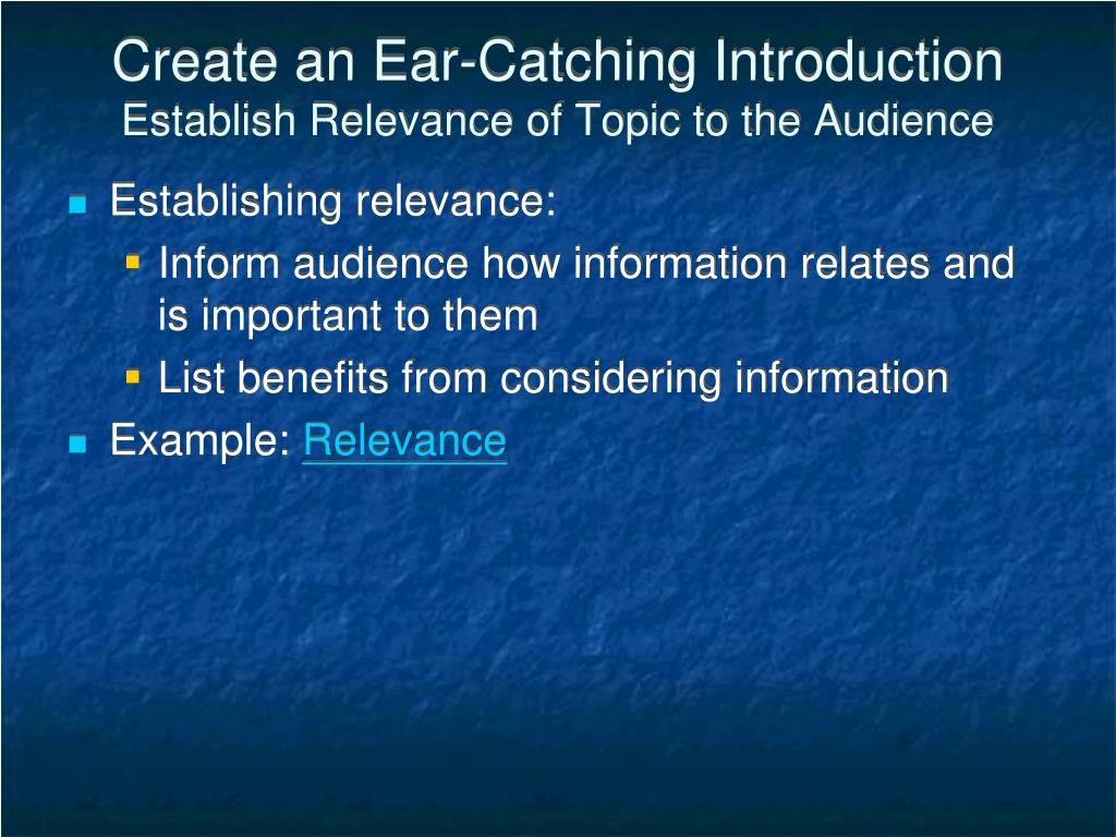 Create an Ear-Catching Introduction