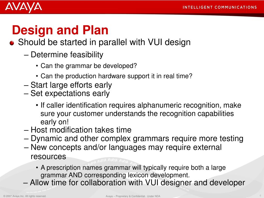 Design and Plan