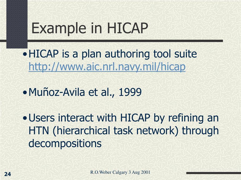 Example in HICAP