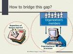 how to bridge this gap