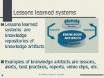 lessons learned systems