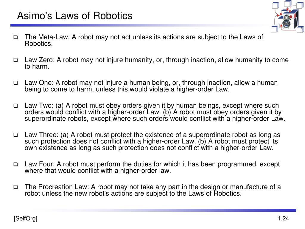 Asimo's Laws of Robotics