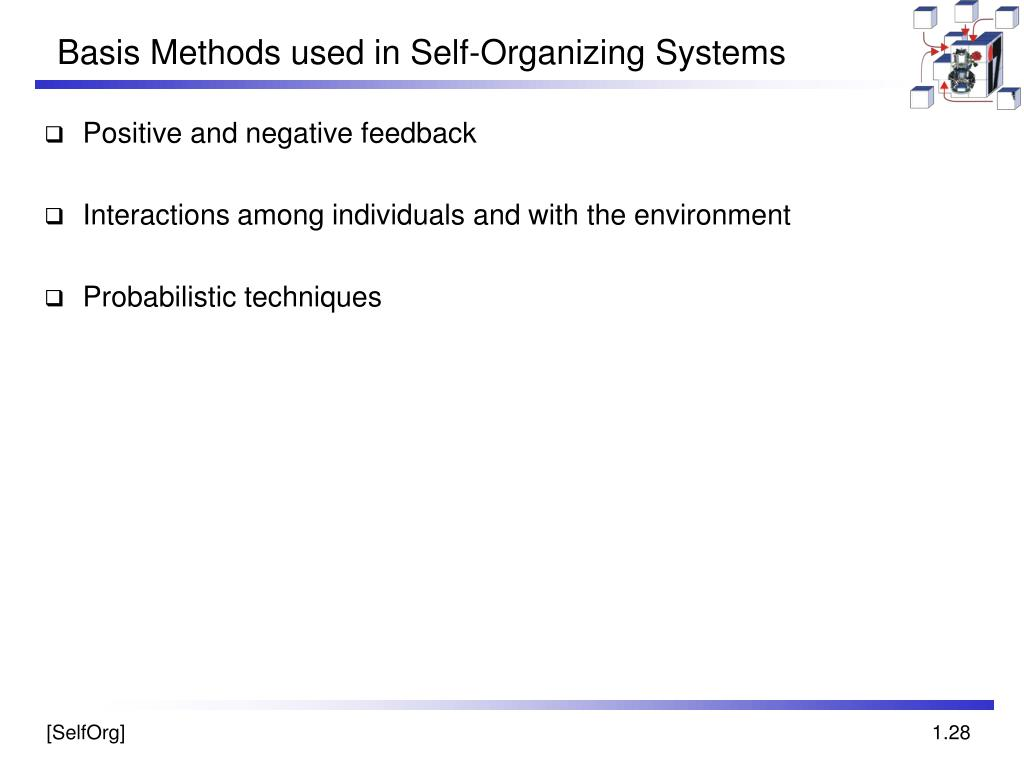 Basis Methods used in Self-Organizing Systems