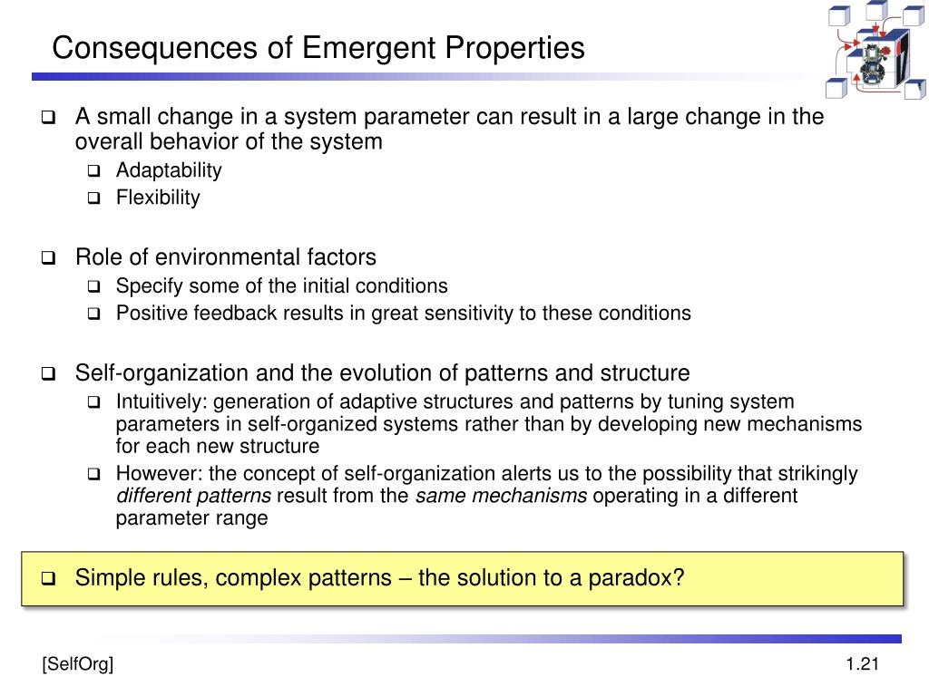 Consequences of Emergent Properties