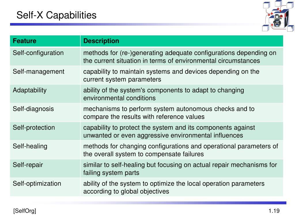 Self-X Capabilities