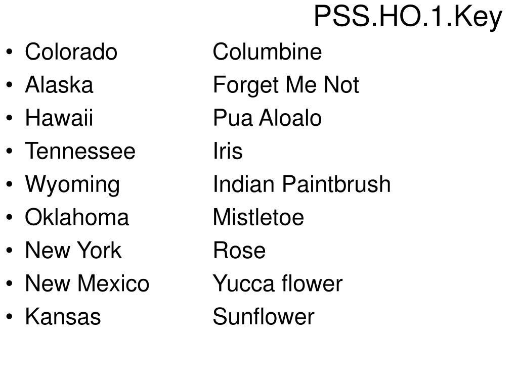 PSS.HO.1.Key