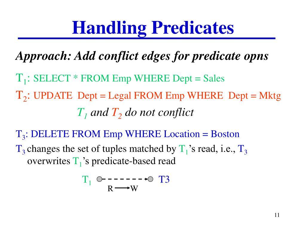 Handling Predicates