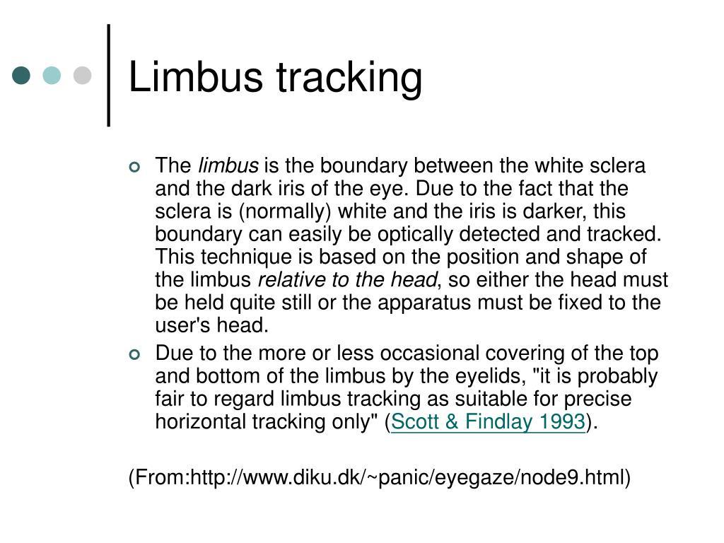 Limbus tracking