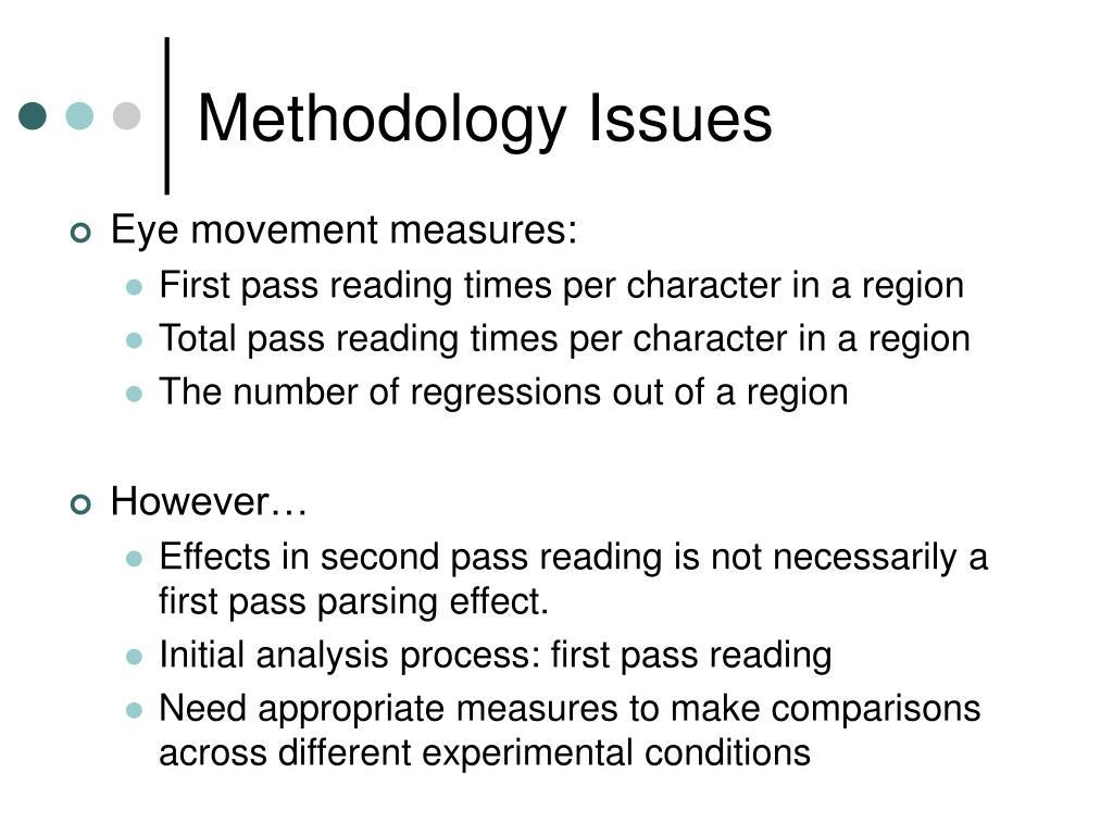 Methodology Issues
