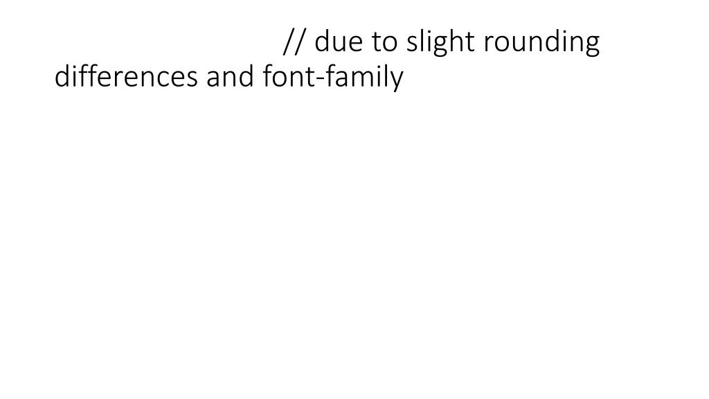 // due to slight rounding differences and font-family