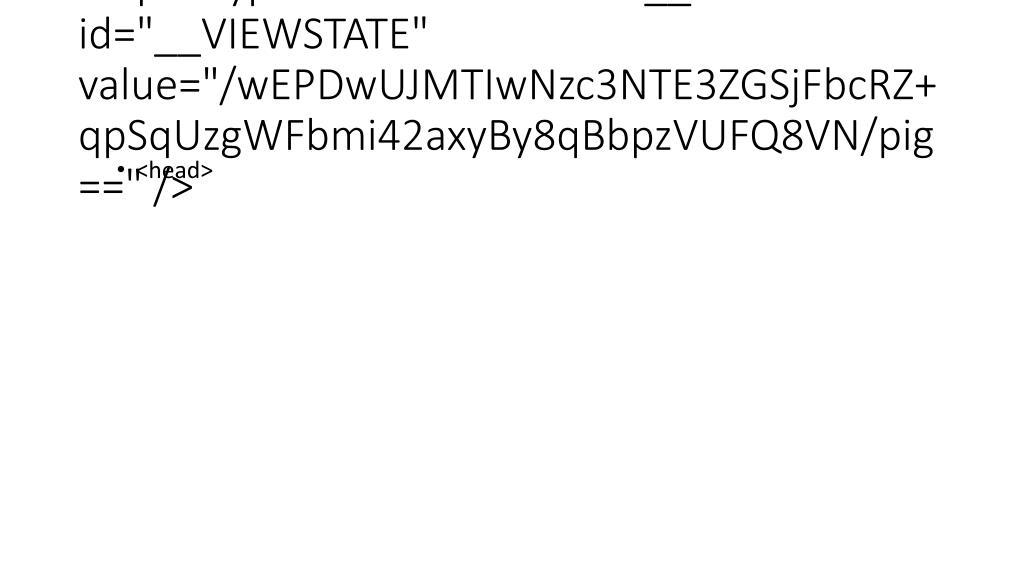 "<input type=""hidden"" name=""__VIEWSTATE"" id=""__VIEWSTATE"" value=""/wEPDwUJMTIwNzc3NTE3ZGSjFbcRZ+qpSqUzgWFbmi42axyBy8qBbpzVUFQ8VN/pig=="" />"
