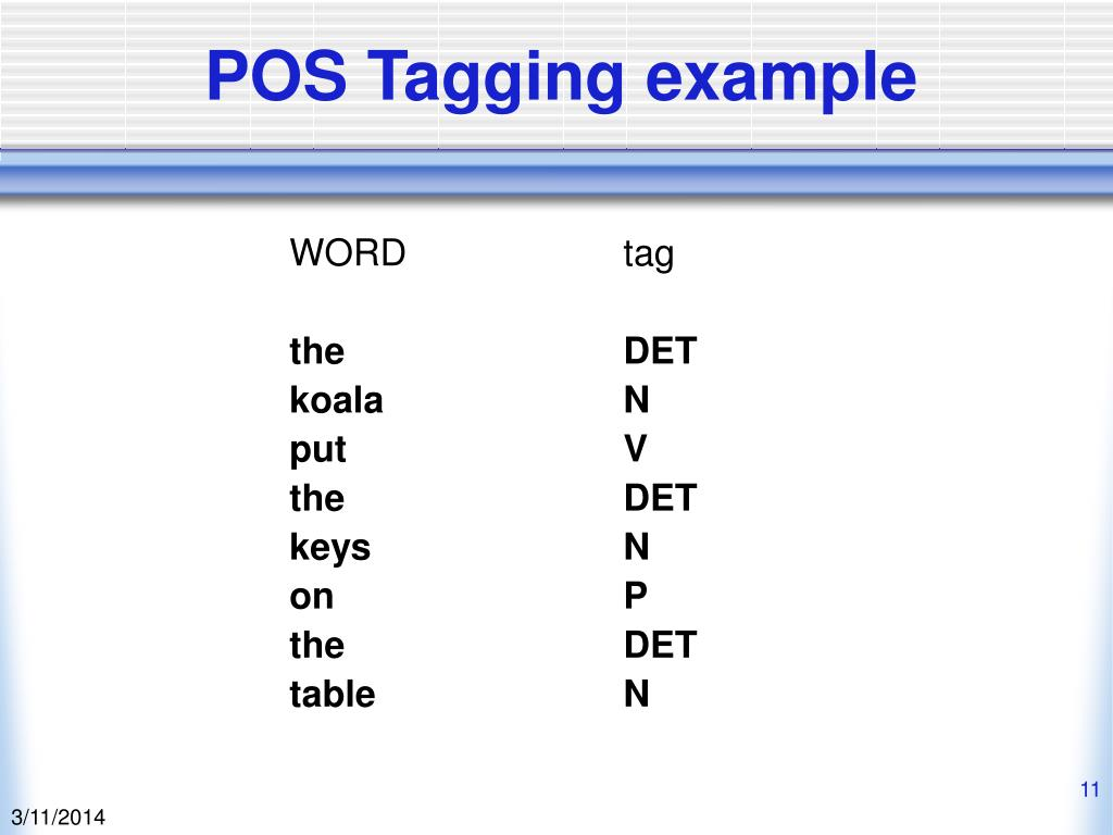POS Tagging example