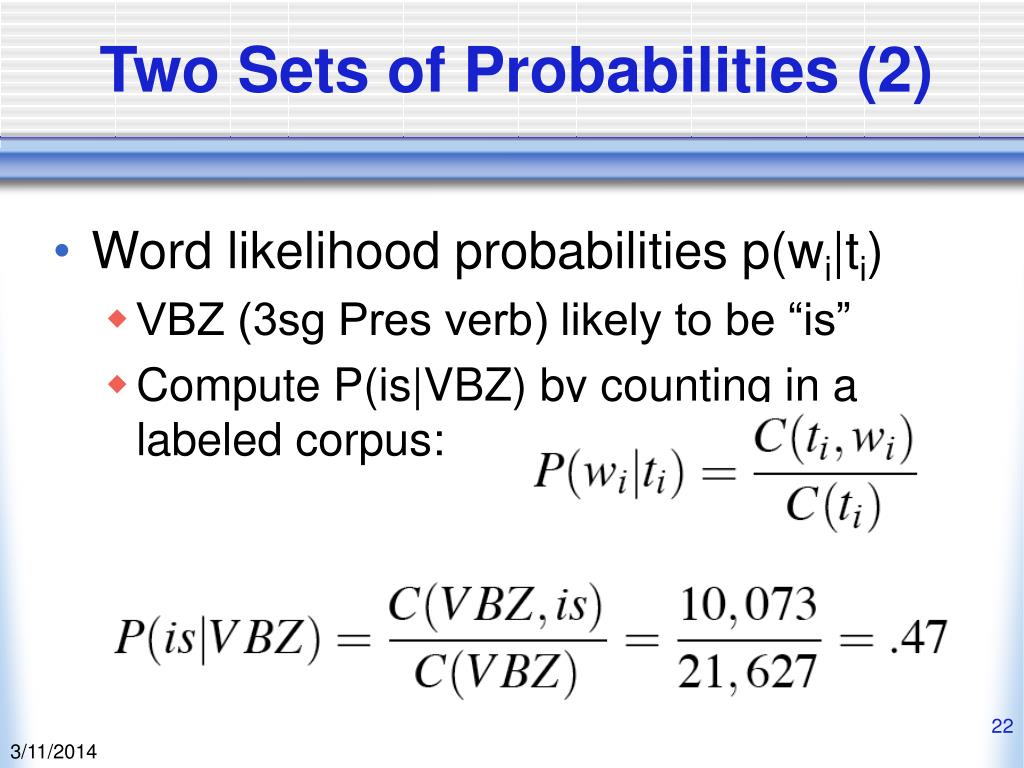 Two Sets of Probabilities (2)