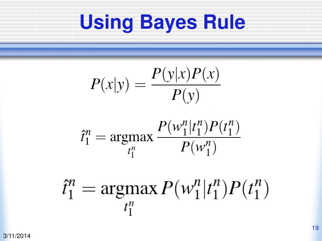 Using Bayes Rule