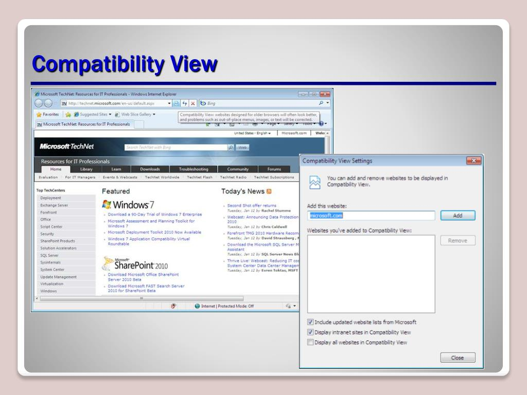 Compatibility View